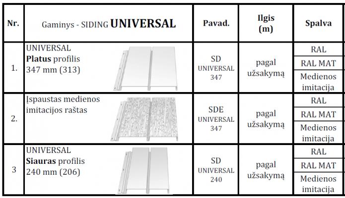 Siding Universal