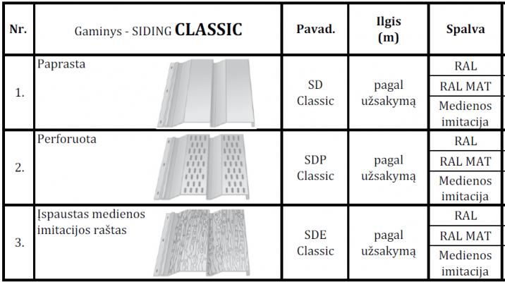 Siding Classic