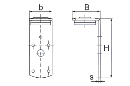 Laikiklis ventiliacijos kanalams
