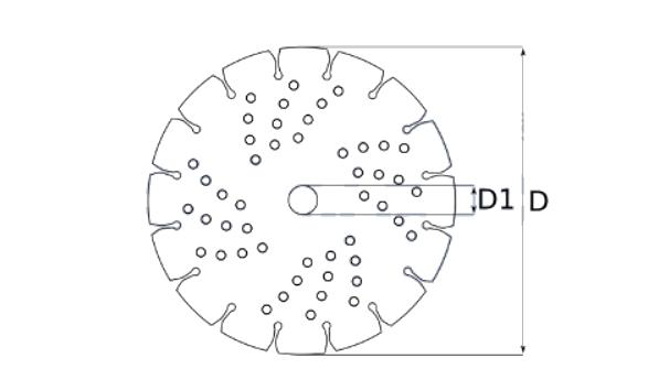 Pjovimo diskas deimantinis